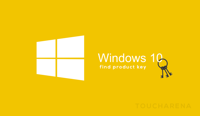 find windows 10 key